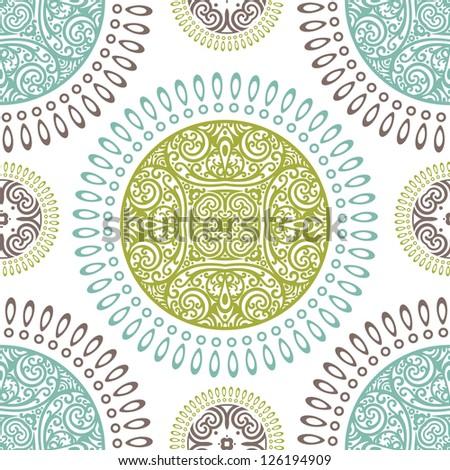 vector seamless abstract wallpaper pattern - stock vector