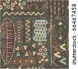 Vector Seamless African Tile (wallpaper,  texture, background) - stock vector