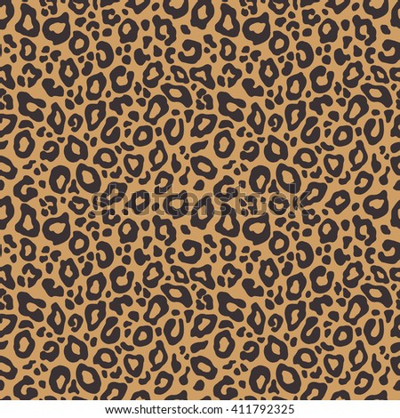 Vector seamless background. Animal leopard print pattern - stock vector