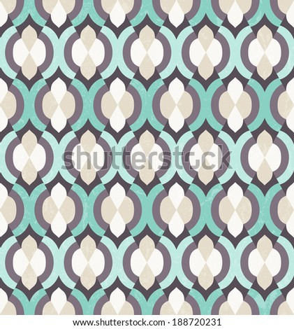 Vector seamless background. Moroccan wallpaper. EPS 10. - stock vector