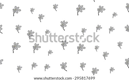 Vector seamless background of flowers on a white background. Floral background.