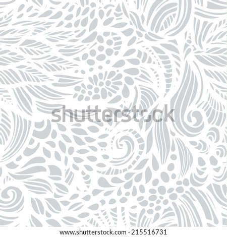 Vector seamless background with abstract flowers. - stock vector