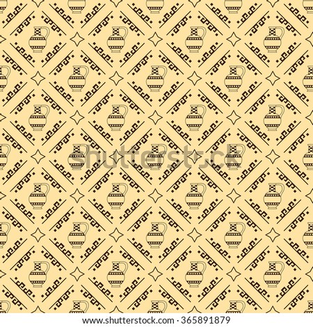 vector seamless background with greek design pattern - stock vector