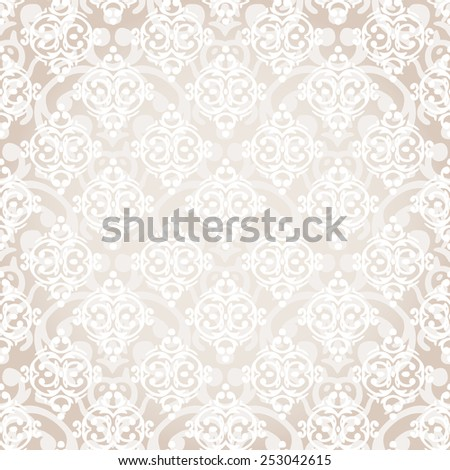 Vector seamless baroque damask luxury background