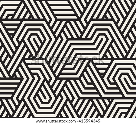 Vector Seamless Black And White Irregular Triangle Lines Geometric Pattern Abstract Background