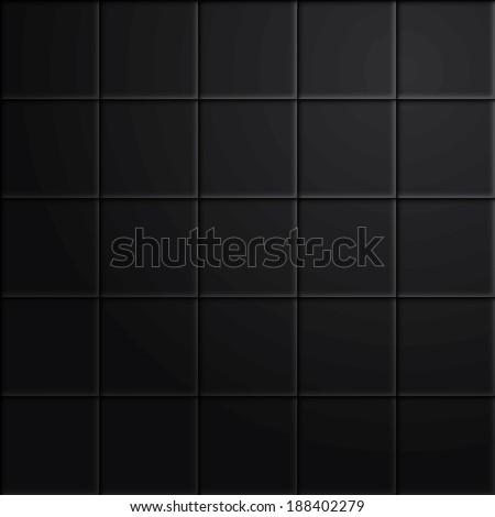 Vector seamless black tiles with gradient in a separate layer. - stock vector