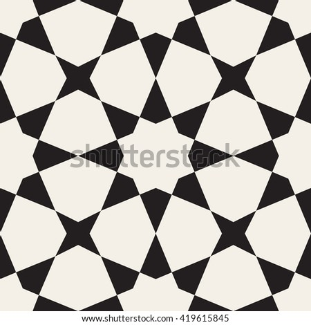 Vector Seamless Black White Geometric Pattern Abstract Background