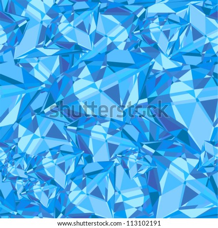 Vector seamless - blue jewelry pattern - stock vector