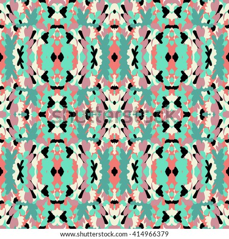 Vector seamless bright abstract symmetrical pattern