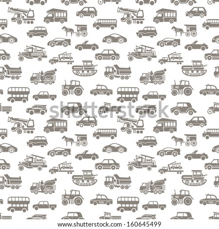 vector seamless car pattern - stock vector