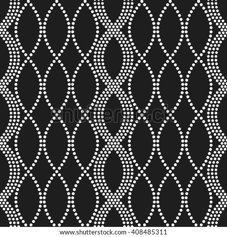 Vector Seamless Chain pattern. Circle pattern. Abstract Black and White Background. Dotted background. Ethnic Pattern. Textile background. Dots. Geometric Pattern.Zigzag pattern.Vector Regular Texture