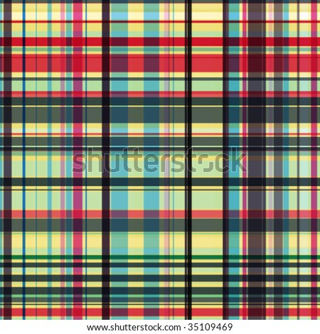 Vector seamless checked pattern. - stock vector