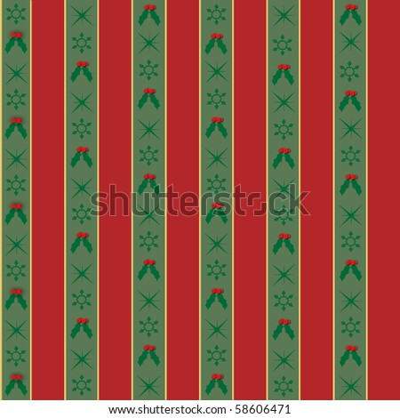 vector seamless Christmas Wrapping Paper Background - stock vector