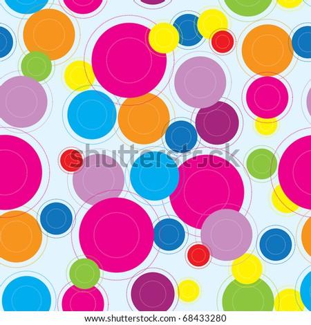 vector seamless circle retro pattern - stock vector