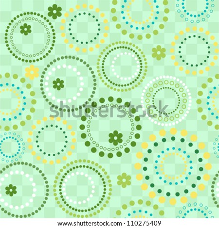 Vector seamless circles background