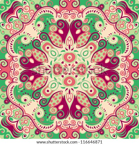 vector seamless colorful seamless floral pattern background