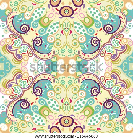 vector seamless colorful seamless floral pattern background - stock vector