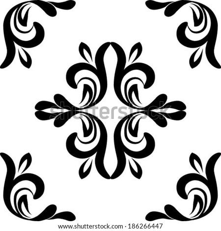 vector seamless damask pattern stock vector 186266447 shutterstock rh shutterstock com royal damask pattern vector floral damask pattern vector