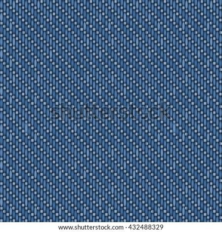 Vector seamless denim texture. - stock vector