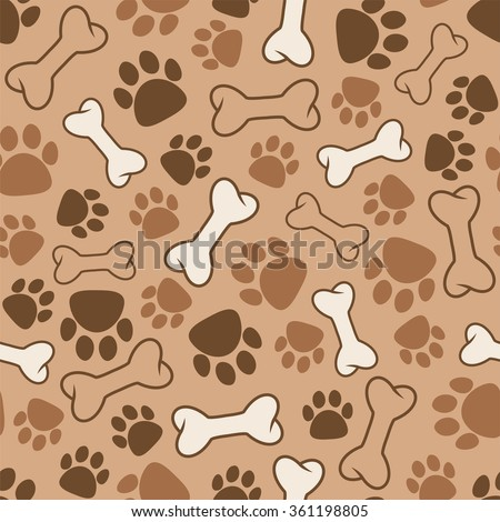 vector seamless dog pattern - stock vector