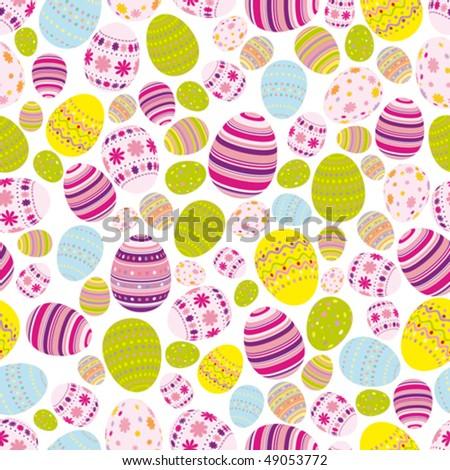 Vector Seamless easter eggs background - stock vector