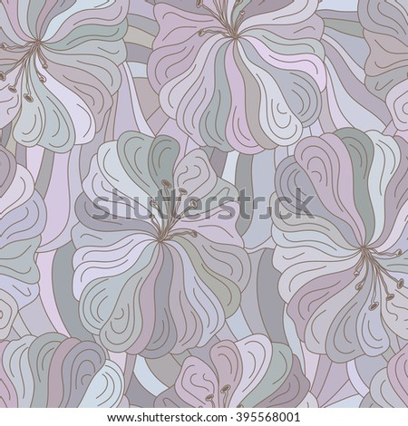 Vector seamless floral pattern. Boho style design for fabrics, textiles, paper, wallpaper and covers.  - stock vector
