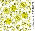 vector seamless floral texture - stock vector