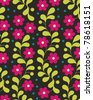 Vector Seamless Flower Pattern - stock vector