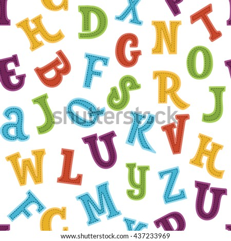 Vector seamless funny colorful numbers pattern
