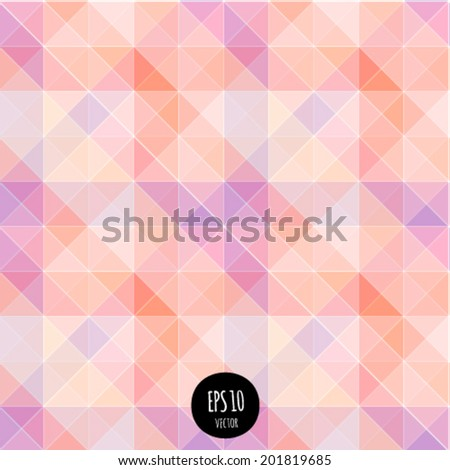 Vector seamless geometric background. Vibrant futuristic abstract pattern. Colorful modern style fashion design. Bright triangle texture. Colors shapes digital backdrop. - stock vector