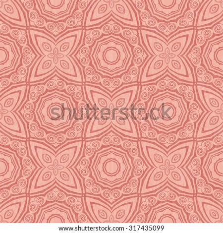 Vector seamless geometric ornamental pattern background. - stock vector