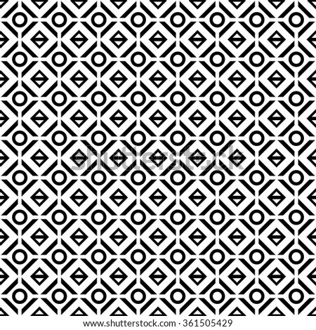 vector seamless geometric pattern. endless texture black and white.