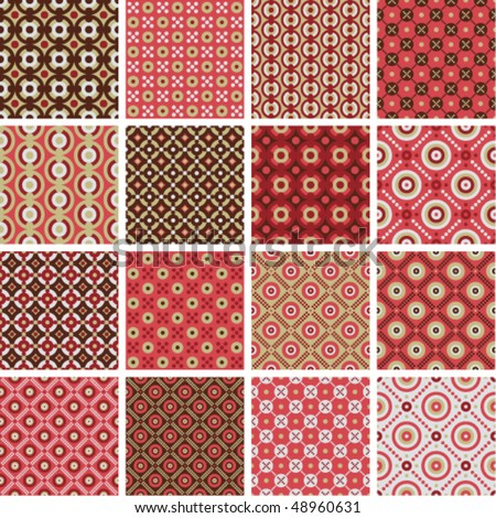 Vector seamless geometric patterns