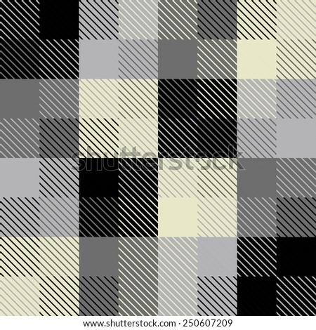 vector seamless geometric print with diagonal stripes - stock vector