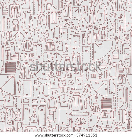 Vector Seamless Hand Drawn Doodle Pattern Stock Vector 374911351 ...