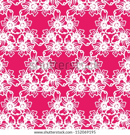 vector seamless hand drawn floral pattern background  - stock vector