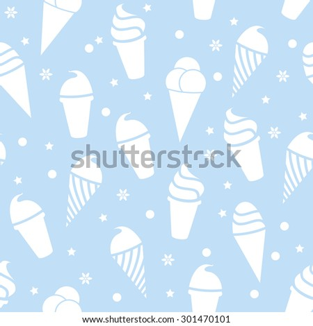 vector seamless icecream pattern  - stock vector