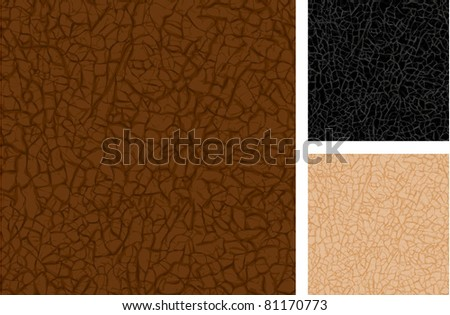Vector seamless leather texture closeup. - stock vector