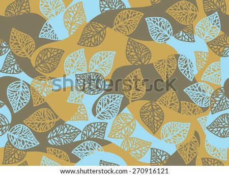 Vector seamless leaves pattern. - stock vector