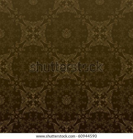Vector seamless luxury wallpaper pattern in gold.