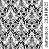 Vector. Seamless monochrome damask vintage pattern.  - stock photo