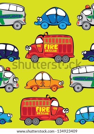 vector seamless multicolor cars pattern