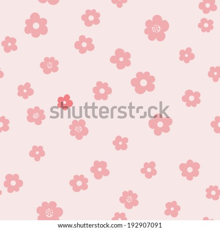 vector seamless neat flower print - stock vector