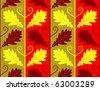 vector seamless oak leaves texture - stock vector