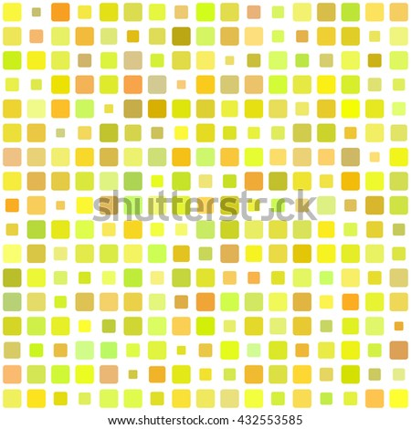 Vector seamless pattern. Abstract background texture with random square tiles. Design for cover, textile, pool, kitchen, bathroom. - stock vector