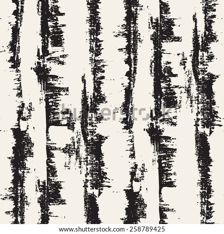 Vector seamless pattern. Abstract background with brush strokes. Monochrome hand made grunge texture. Modern graphic design. - stock vector