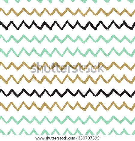 Vector seamless pattern. Abstract background with zigzag brush strokes. Hand drawn texture. Pastel colors pattern. Can be used for tags, flyers, banners, web, print, textile and paper designs