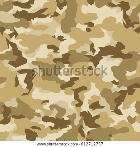 Vector Seamless Pattern Abstract Geometric Desert Camouflage Texture