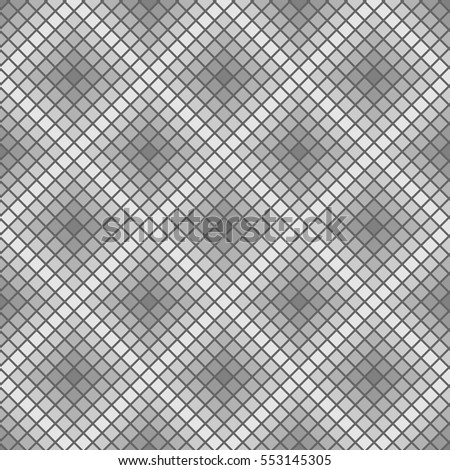 Vector seamless pattern. Abstract rhombuses. Square pixel gradient background.