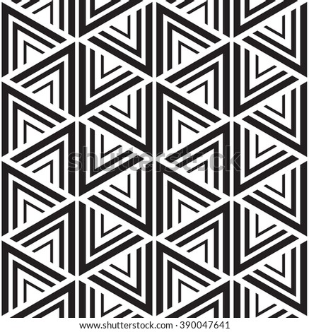 Vector seamless pattern. Abstract Seamless Pattern. Triangle Pattern. Seamless Pattern with Triangles. black and white triangle Pattern . Black and white seamless triangle pattern. Seamless Pattern .